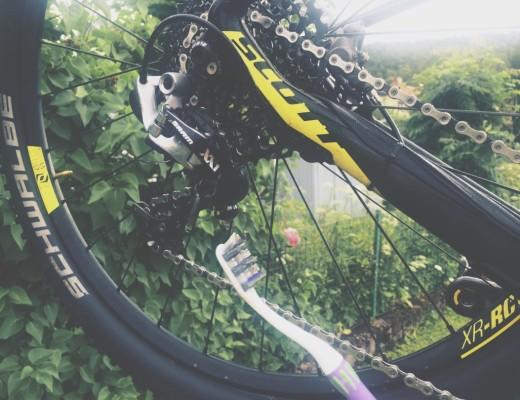 Life hack: cykelvårdstandborste